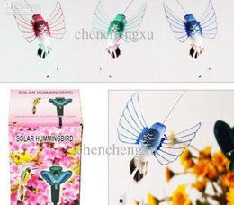 Wholesale Solar Hummingbirds - Wholesale- Solar humming bird hummingbird butterflies garden toys students educational solar and battery combo Energy GIFT Solar Energy Toy