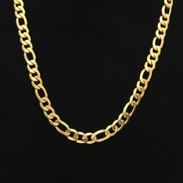 Wholesale Gold Plated Curb Chains - Hip Hop Miami Cuban Link Chain Necklace 7mm White Gold Plated Curb Chain For Men Jewelry Wholesale