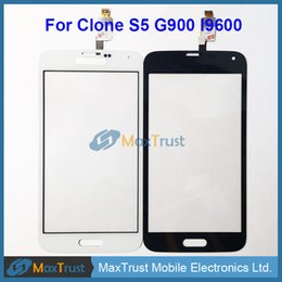 """Wholesale Iphone China Black - Wholesale- Top Quality 5.0"""" For China Clone S5 NB022-FPCV4-6306-01 Touch Screen Digitizer Front Glass Panel Sensor Black White Color"""