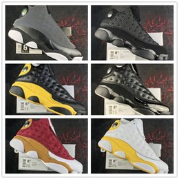 Wholesale Cat Stars - 2017 New Air Retro 13 Black Cat 3M Ellis Kawhi Leonard All star Game 13s Basketball Shoes for Super quality XIII Training Sneakers Size 7-13