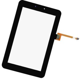 Wholesale Mediapad Youth - Wholesale- For HuaWei MediaPad 7 Youth 2 S7-722U New Outter Black Touch Screen Panel Digitizer Glass Lens Sensor Repair Parts Replacement