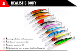 Wholesale Plastic Wobblers - New Minnow Freshwater Fishing lure Crank baits 11.5g 10.5cm ABS Plastic Wobblers Bait with Treble Hooks Pesca Fishing Tackle