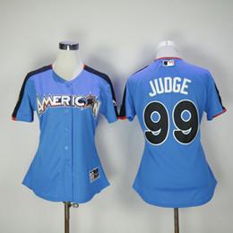 586551e2c ... Ladies New York Yankees Women 99 Aaron Judge Navy Blue 99 2017 All Star  Jersey ...