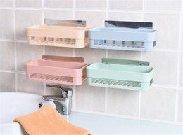 Wholesale Nordic Colors - 2 Colors Seamless Paste Shelf Nordic Restroom Bathroom Shelf Reusable Racks Hanging Storages Holders Toiletries Storage Rack
