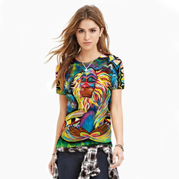 Wholesale Graffiti Sexy Girl - Women 3D T-Shirt 2017 girl fashion pullover 3d Graffiti monkey digital printing sweatshirts new sexy slim breathable 3DT-shirt