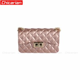 Wholesale Kids Jelly Purses - Chicarian Newest Girl Jelly Shoulder Bag Fashion Kids Messenger bags Kids Purses Designer Women Mini Bag Hot Stylish Children Purse CA033