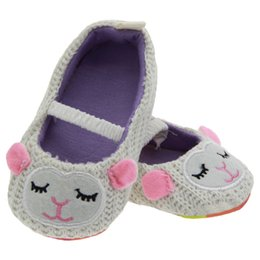 Wholesale Girls Pussy - A toddler shoes 0-1.5 years, knitting pussy cat princess