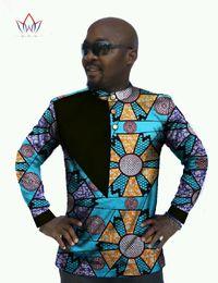 Argentina Al por mayor-Mens ropa africana Dashiki hombres camisa casual hombres de manga larga Slim Fit camisa de vestir Bazin Rich hombres africanos camisas 6XL WYN28 cheap african batik dresses Suministro