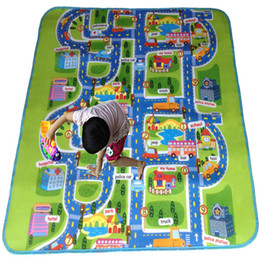 Wholesale Kids Soft Play Mats - Wholesale- [Bainily]Baby Play Mats Beach Picnic Baby Playing Mats Crawling Rug Carpet Blanket Kids Toy Gift Child Developing gift