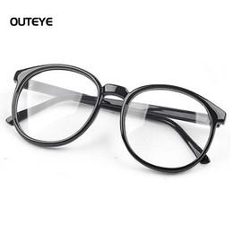 27030a2d245 Wholesale- OUTEYE Women Vintage Glasses Frame Plain Mirror Harajuku Round Optical  Frame Girl Eyeglass Clear Lens Oculos Feminino de Grau 15
