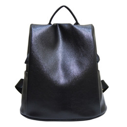 Wholesale Leather Traveling Bags - Wholesale- 2016 new design of PU woman flip leather bag 11-14.1 inch school tablet package leisure fashion backpack black traveling bag