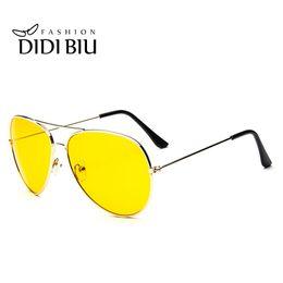 Wholesale Eyewear Aviator - DIDI Day & Night Yellow Sunglasses Women Men Luxry Brand Oversized Aviator Driving Goggle Accessories Eyewear Lunette De So W309