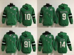 Wholesale New Jersey Drop Ship - 2016 New Dallas Stars 9 modano 10 sharp 14 Benn 91 Seguin Green Women Hoodies Jersey Top quality Hockey Jerseys Wholesale Drop Shipping