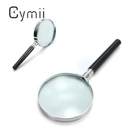 Wholesale Hold Watches - Wholesale- Cymii Portable 5X Handheld Hand Held Magnifying Glass Lens Magnifier Magnification 75mm Watch Repair Tool