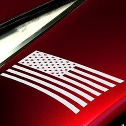 Wholesale Vinyl Flag Stickers - American Flag National Symbol of Independence Freedom Democratic Art Sticker for Motorhome Truck SUV Window Vinyl Decal