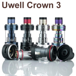 Wholesale Electronic Cigarette Kit 5ml - Uwell Crown 3 Sub-Ohm Tank full kit 5ml electronic cigarette Crown III vape atomizer Top filling vaporizer with 0.5ohm Coil Head for 510 mod