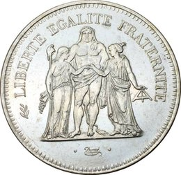 1978 Francia 50 franchi francesi Hercule de Dupre Moneta in argento con placcatura in ottone da
