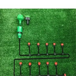 Wholesale Garden Hose Nozzles - 30m 40pcs Dripper DIY Plant Self Watering Garden Hose Micro Drip Irrigation System Kit free shipping 2017101304