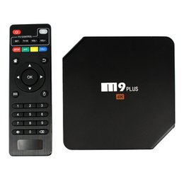 Wholesale Android Tv Box M9 - S905 4K Streaming Android TV Box M9 Plus 2GB 16GB Quad Core 5.1 OS BT4.0 Dual Band fully loaded LED display