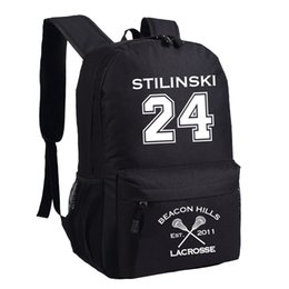 Wholesale TV Series Teen Wolf Stilinski School Bags Backpacks Outdoor Bags