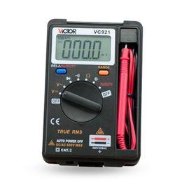 Wholesale Pocket Dmm - VICTOR DMM Integrated Personal Mini Digital Multimeter Pocket Capacitance Resistance Frequency Tester DC AC Voltage Meter