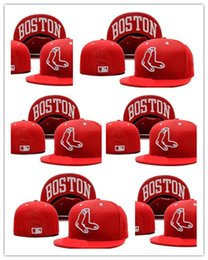 Wholesale Silk Sox - newest Fashion style Boston Red Sox Fitted Cap Embroidered Team Logo Baseball Cap Casual Style sport Fit size men women hats