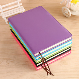 Wholesale Business Sheets - A5 Classic Notebook, PU Leather Hard Cover Diary Business Notepad, 100 Sheets Note Book (5 Color)- School Office Notebooks