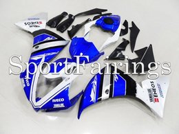 Wholesale Fairings For Yamaha YZF1000 YZF R1 R1 ABS Motorcycle Fairing Kit Motor Bodywork Cowling Bllue White oem