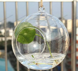 Wholesale Hanging Glass For Air Plant - Dia Clear Glass Ball Hanging Air Plant Terrarium Wedding Candlestick Tealight Holders for wedding Home free shipping MYY