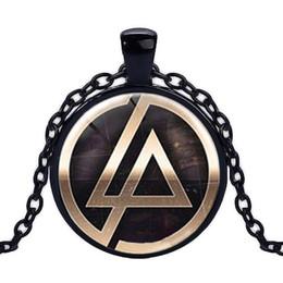 Colgante linkin park online-2017 venta caliente Lincoln Park Band logo colgante collar Fans joyería 25mm Cúpula Redonda collar de cristal joyería hecha a mano Linkin park