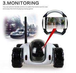 Wholesale Pinhole Hot Videos - 2017 hot new 720p RC spy Car hidden camera CLOUD ROVER Real-time Video Removable smart wireless ip camera wifi