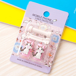 Wholesale Cord Sleeves - Cartoon Cable Protector Data Line Cord Protector Protective Sleeves Cable Winder Cover For Phone USB Charging Cables