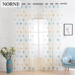 Wholesale Embroidered Tulle Curtains - Norne European White Embroidered Voile Curtains Bedroom Sheer Curtains curtain for Living Room Tulle Window Curtains Window Panels