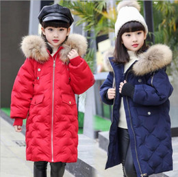 Wholesale Children Duck Down - 2017 warm kids down jacket for girl children's cold winter jackets boys coat Long Pattern Child girls Clothes parka -20-30degree
