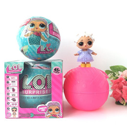 Wholesale Wholesale Christmas Toys For Kids - 2 Function Spray Water Discolor LOL Surprise Doll Ball Toys 10cm Diameter L.O.L kids Ball Toy For Christmas Gifts