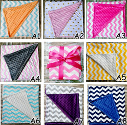 Wholesale Manual Baby - Baby Ins Handmade minky Blankets Infant Stripe Zigzag Swaddle Chevron Wrap Newborn Swaddling Fashion Stroller Manual Blanket Nursery Bedding