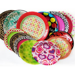 Wholesale Paper Cake Tray - Wholesale-Disposable Plate Tray Paper Plate for Cake Party Birthday Party Decorations 6 Inch Wedding Decoration Birthday Party Decorations