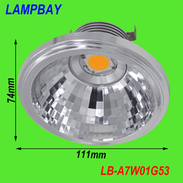 Wholesale Reflector Lamp 12v - Wholesale- (10 Pack) Free shipping LED AR111 lamp COB 7W 12V G53 with reflector 120 degree replace to 50W halogen bulb QR111
