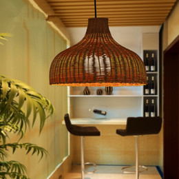 Wholesale Bamboo Pendant Lights - 100% handmade Southeast Asian bamboo lamp rattan lights balcony pendant lights