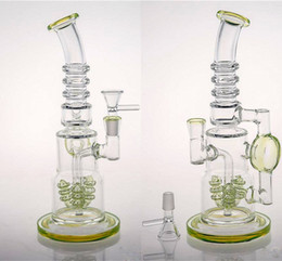 Wholesale Fast Online - Thick Beaker Christmas Gift Glass Bongs Fast Shipping Per percolator Smoking Water Pipes Online Chinese Made