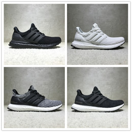 Wholesale Flooring Concrete - New ADIDAS Ultra Boost 4.0 ub Triple Black and White Primeknit Oreo CNY Men Women Running Shoes Ultra Boosts ultraboost sport Sneaker