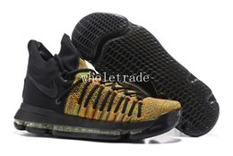 Wholesale Kd Sneakers - KD 9 Elite Multicolor mens Basketball Shoes KD 9 Elite Time Sneakers Size 7-12 With Shoes Box