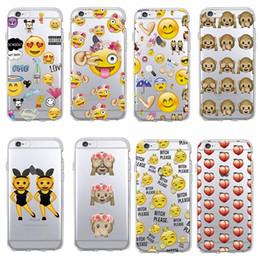 Wholesale Iphone Soft Monkey Case - Phone Case Soft TPU Funny Monkey Emoji Case for iPhone 4 4s 5 5s SE 5c 6 6s 6plus 6s plus 7 7plus