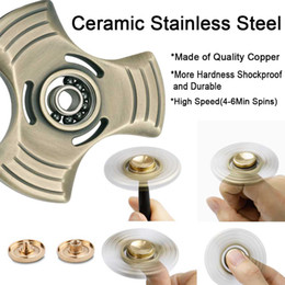 Wholesale Toys Wholesale Germany - Fidget Spinner, Hand Spinner, Metal Fidget ADHD Focus Toy, Ultra Durable Bronze Tri-spinner, Germany Imported Bearing, High Speed Up to 5 Mi