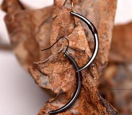 Wholesale Wholesale Wire Earring Hoops - Creative New Crescent Dangle Earrings Bohemia Retro Style Original Design Manual Copper Wire Delicate Earrings Hot Sale for Women's