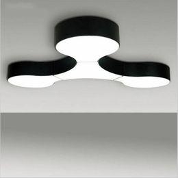 Wholesale Home Link - Modern ceiling lamp massive project free combination lamps Black White Custom Fixtures Modern molecular link LED lights home lighting decora