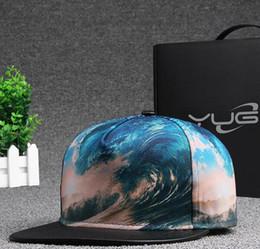 Nuovo tappo d'onda di stile online-New Fashion Hip-Hop Caps Waves Cappelli piatti con cappellino piatto snapback 3D con stampa 3D 3 stile DT13