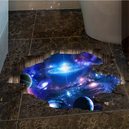 Wholesale Floor Packages - New 3D Wall Stickers floor sticker universal wallpaper for home decoration kid's room living room free shipping