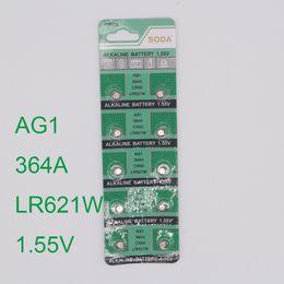 Wholesale Button Cell Lr621 - Wholesale- 30pcs Watch Button Battery AG1 364 LR621 CX60 SR621SW 1.55V Alkaline Watch Coin Cell Battery batterie orologio