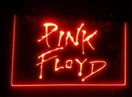 Wholesale Pink Disco Lights - b-93 Pink floyd beer bar pub club 3d signs led neon light sign home decor crafts